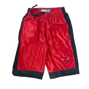 NBA Chicago Bulls Red Basketball Shorts Embroidery